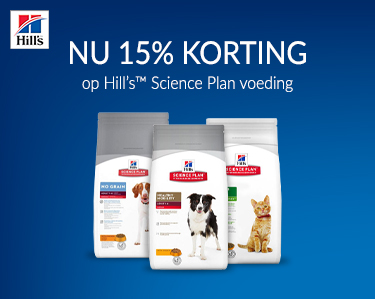 Pak je voordeel! 15% korting op Hills Science Plan