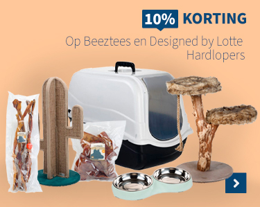 10% korting Beeztees & Designed by lotte
