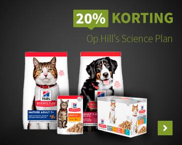 20% korting op Hills Science Plan