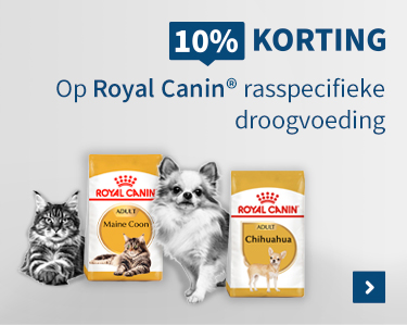 10% korting op Royal Canin breeds droogvoeding