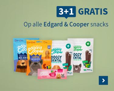 3 plus 1 gratis op alle Edgard en Cooper