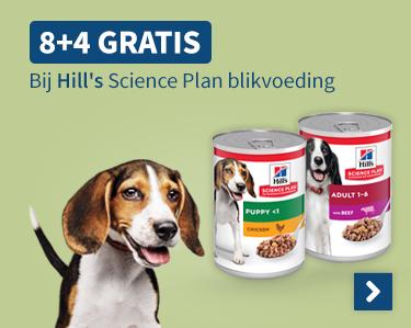8+4 Gratis Bij Hills Science Plan blikvoeding