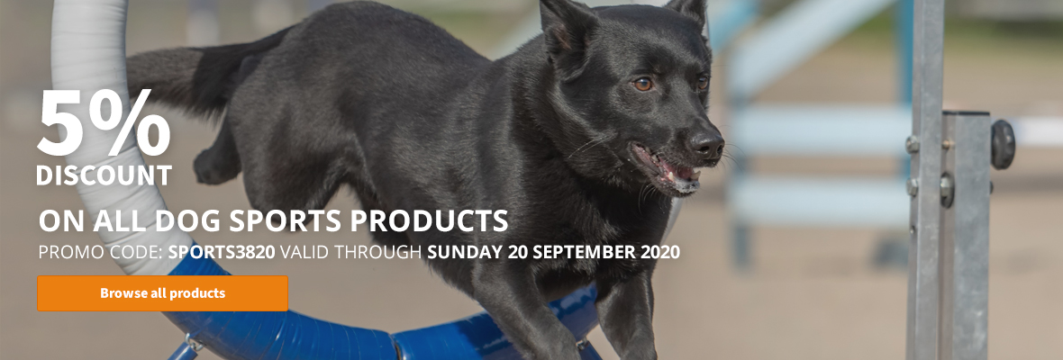 5% off on all dog sport products!