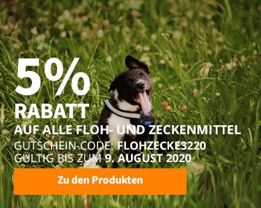 5% Rabatt! Alles für einen tollen Sommer mit Ihrem Haustier!