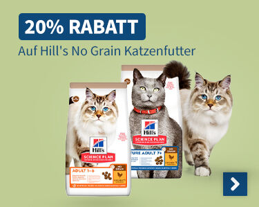 20% Rabatt Auf Hills No Grain Katzenfutter