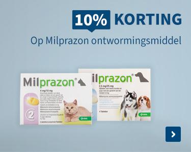 10% korting op Milprazon ontwormingsmiddel