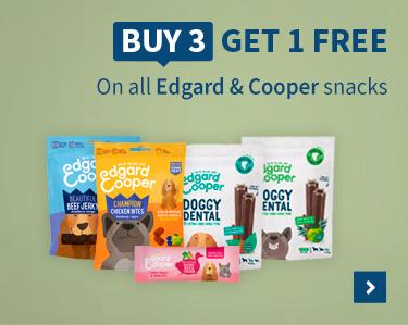 Buy 3 get 1 free Edgard and cooper snacks