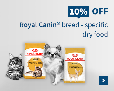10% Off Royal Canin Breed - specific dry food