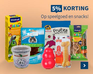 5% korting op speelgoed en snacks