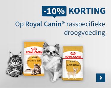 -10% korting op Royal Canin rasspecifieke droogvoeding