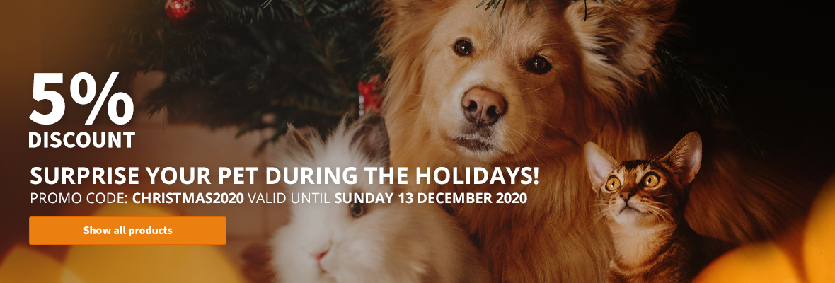 5% Discount! Suprise your pet during the holidays!