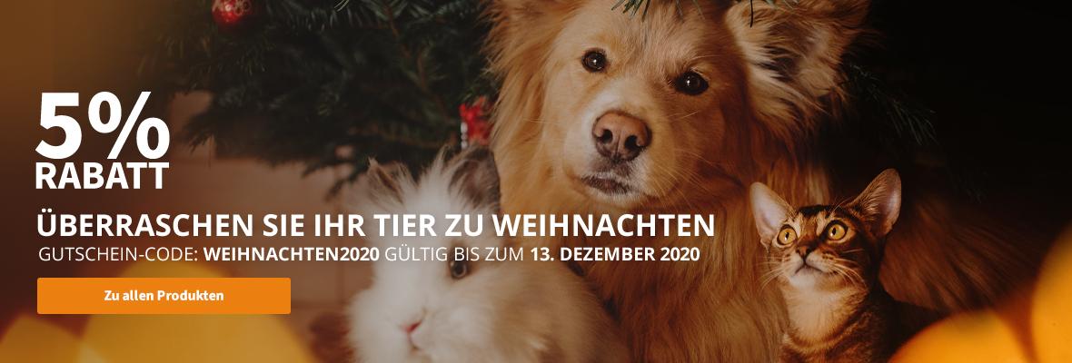 5% Rabatt! Überraschen Sie Ihr Tier zu Weihnachten
