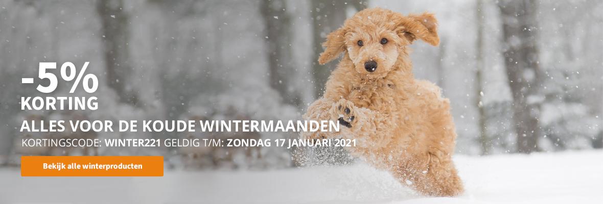 -5% korting op alle winterproducten