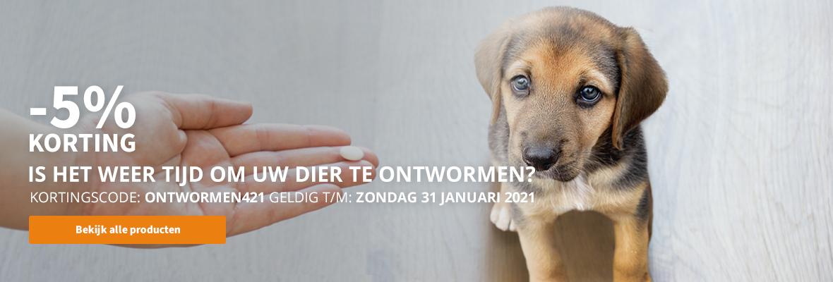 5% korting op alle ontwormingsproducten!