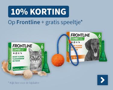 10% korting op Frontline + Gratis speeltje