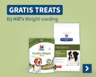 Gratis Treats bij Hills Weight voeding