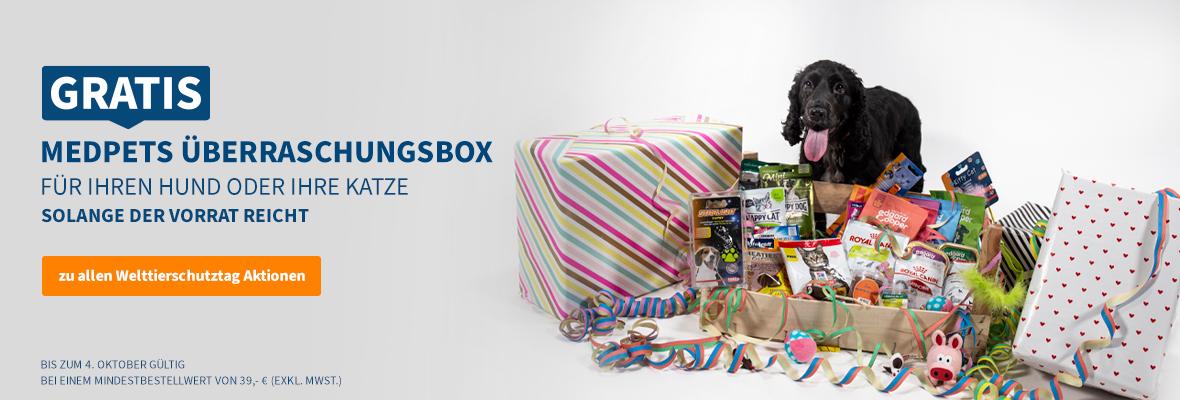 Kostenloses Überraschungsbox für Ihren Hund oder Ihre Katze!