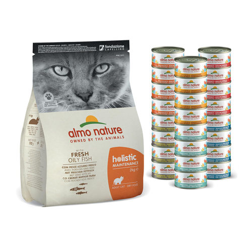 Almo Nature - Cat - Maandpakket Vis - Mixed