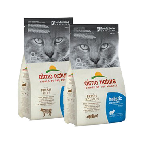 Almo Nature - Cat - Sterilised Aliments Secs et Humides pour Chat