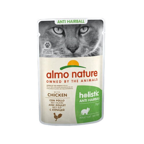Almo Nature - Cat - Anti-Hairball | Meal Pouch | Chicken