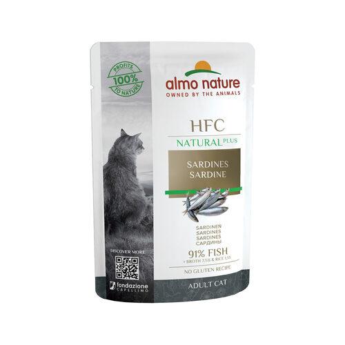 Almo Nature Cat Plus Kattenvoer - Maaltijdzakje - Sardine