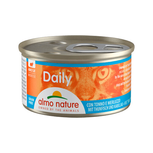 Almo Nature Daily Menu Mousse Kattenvoer - Blik - Tonijn en Kabeljauw