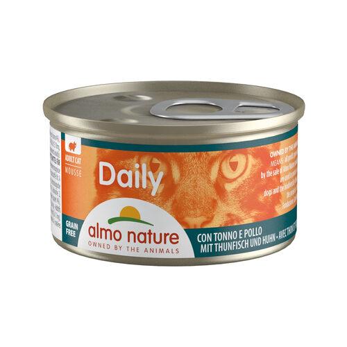 Almo Nature Daily Menu Mousse Katzenfutter - Dosen - Thunfisch und Huhn