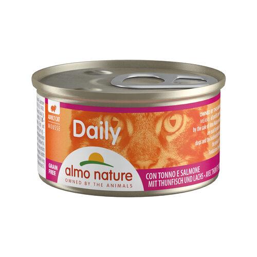 Almo Nature Daily Menu Mousse Cat Food - Tin - Tuna and Salmon
