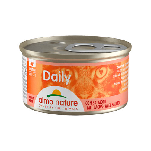Almo Nature Daily Menu Mousse Cat Food - Tin - Salmon