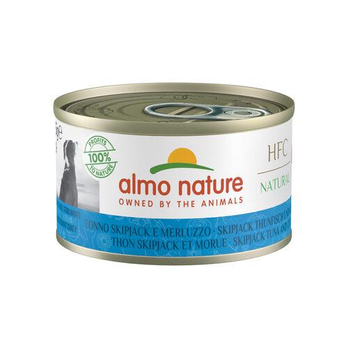 Almo Nature Dog HFC 95 Natural Hondenvoer - Blik - Skipjack Tonijn & Kabeljauw