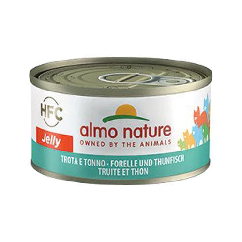 Almo Nature HFC 70 Jelly Katzenfutter - Dose - Forelle und Thunfisch