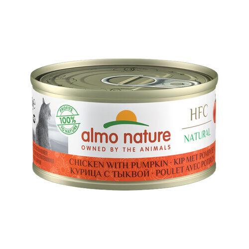 Almo Nature HFC 70 Natural Cat Food - Tin - Chicken and Pumpkin