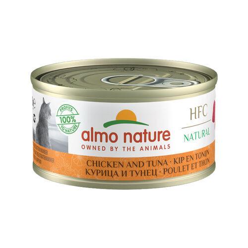 Almo Nature HFC 70 Natural Kattenvoer - Blik - Kip en Tonijn