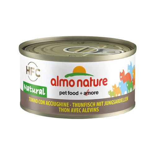 Almo Nature HFC 70 Natural Katzenfutter- Dosen - Thunfisch & Anchovis
