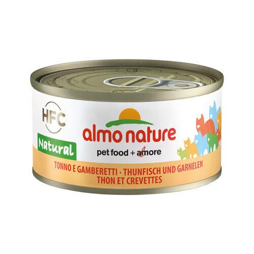Almo Nature HFC 70 Natural Kattenvoer - Blik - Tonijn en Garnalen