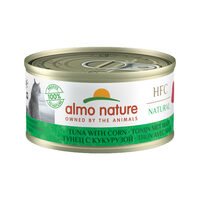 Almo Nature HFC 70 Natural Cat Food - Canned Food - Tuna and Corn