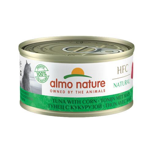 Almo Nature HFC 70 Natural Kattenvoer - Blik - Tonijn en Maïs