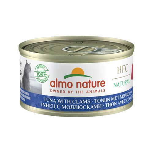 Almo Nature HFC 70 Natural Katzenfutter- Dosen - Thunfisch & Muscheln