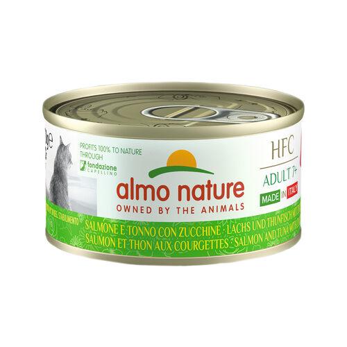 Almo Nature HFC Complete Adult 7+ Made in Italy Kattenvoer - Blik - Zalm en Tonijn met Courgette