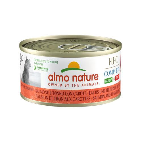 Almo Nature HFC Complete Adult Made in Italy Kattenvoer - Blik - Zalm en Tonijn met Wortel