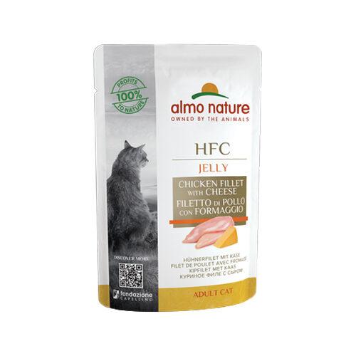 Almo Nature HFC Jelly Kattenvoer - Maaltijdzakje - Kipfilet & Kaas