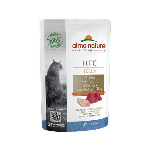 Almo Nature HFC Jelly Kattenvoer - Maaltijdzakje - Tonijn en Tong