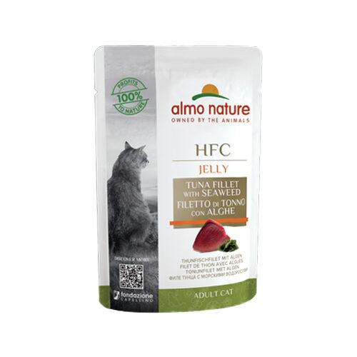 Almo Nature HFC Jelly Katzenfutter - Frischebeutel - Thunfischfilet & Algen