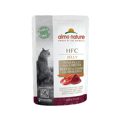 Almo Nature HFC Jelly Cat Food - Meal pouch - Tuna fillet with Lobster