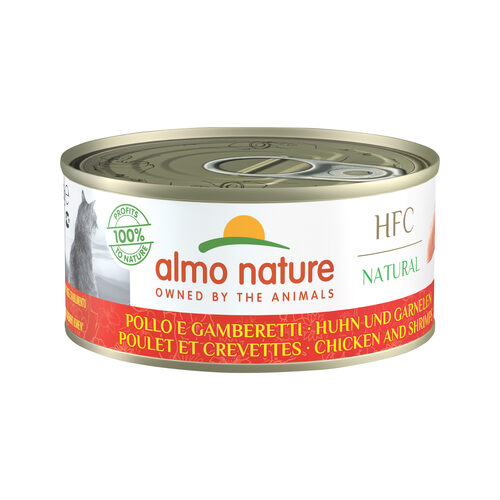 Almo Nature HFC Natural Kattenvoer - Kip & Garnalen
