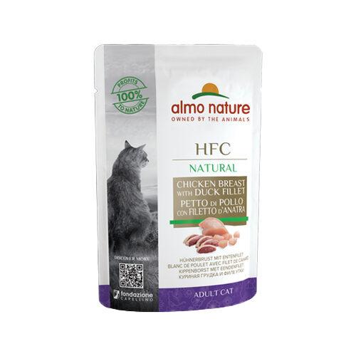 Almo Nature HFC Natural Kattenvoer - Maaltijdzakje - Kip & Eend