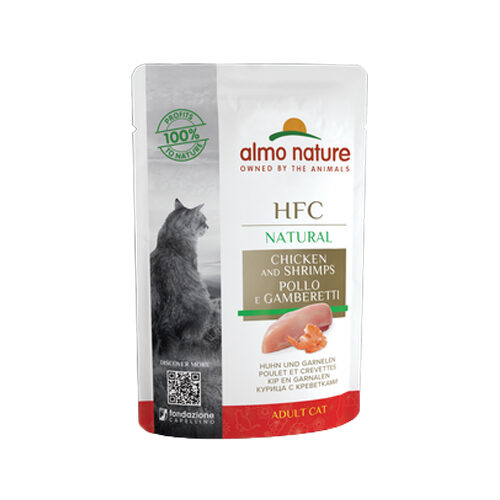 Almo Nature HFC Natural Cat Food - Pouch - Chicken and Shrimp
