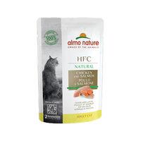 Almo Nature HFC Natural Kattenvoer - Maaltijdzakje - Kip en Zalm