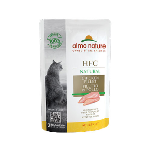 Almo Nature HFC Natural Kattenvoer - Maaltijdzakje - Kipfilet