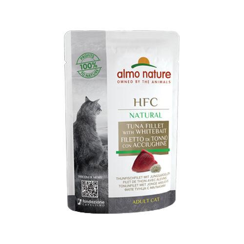 Almo Nature HFC Natural Katzenfutter- Frischebeutel - Thunfisch und Junge Sardellen